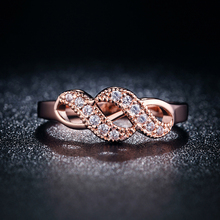 Vintage Rose Gold 585 Color Zircon Jewelry Rings For Women Wedding Ring Anillos Bague Bijoux Anel Feminino Aros QK004