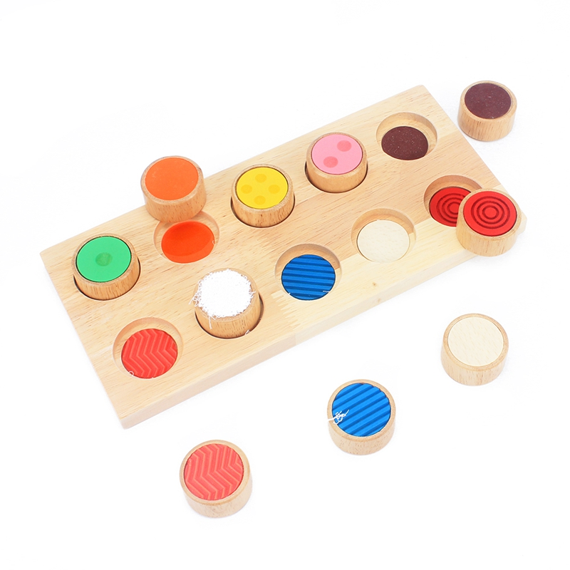Kids Early Learning Educational Toys Montessori Sensory Touch Feeling Training Tools Match Game Shapes Creativity Developing Toy in Blocks from Toys Hobbies
