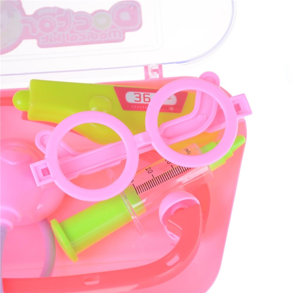 Pretend Doctor Medical Set Kit Case Family Furniture Bolls Kid Play Educational Role Playset Gift For Boy Girl Kids 1Set