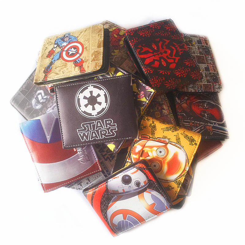 DC Comics Wallet Captain America iron Man Superman Teenage Mutant Ninja Turtles Purse Credit Oyster License Card Man Wallets ...
