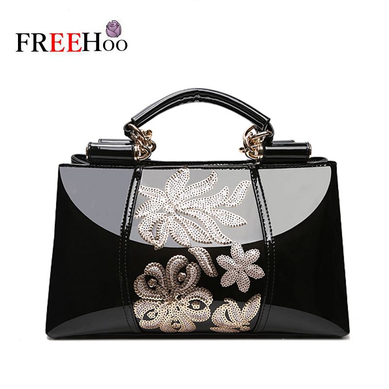 Fashion bags for women 2018 Sequin Embroidery Luxury patent leather Bolsa Feminina brands designer handbag women messenger bags fashion bags for women 2018 sequin embroidery luxury patent leather brand designer handbag women messenger bag bolsa feminina
