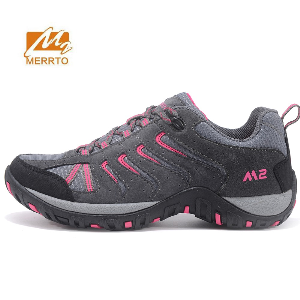 MERRTO Women's Outdoor Hiking Trekking Sneakers Shoes For Men Sports Fall And Winter Climbing Mountain Travel Shoes Woman humtto new hiking shoes men outdoor mountain climbing trekking shoes fur strong grip rubber sole male sneakers plus size