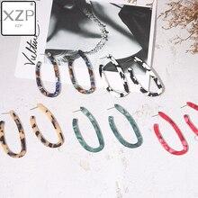 XZP 1 Pair Trendy Jewelry Simple Geometric Acetate Earring Irregular Transparent Resin Acrylic Earrings For Women brincos boho