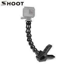 SHOOT Jaws Flexible Clamp Tripod Mount for GoPro Hero 8 7 5 Black Sjcam M10 Xiaomi Yi 4K Eken Dji Osmo Go Pro 7 Camera Accessory