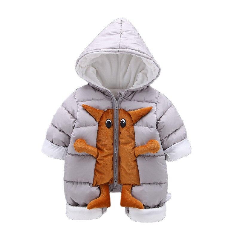 402d6f03f Engrossar inverno Bebê Recém-nascido Bodysuit Macacão Macacão Macacão  Monstro para a Menina Meninos Para Baixo Snowsuit Infantil Desgaste Neve  Roupas de ...