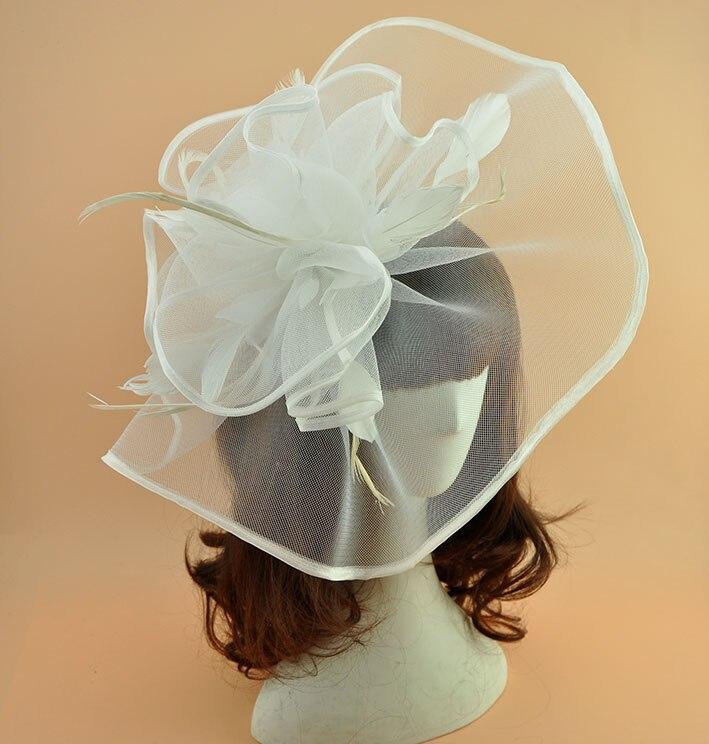 Marke weiß schwarz Feder Fascinator Haarspange Vintage Frauen - Bekleidungszubehör - Foto 2