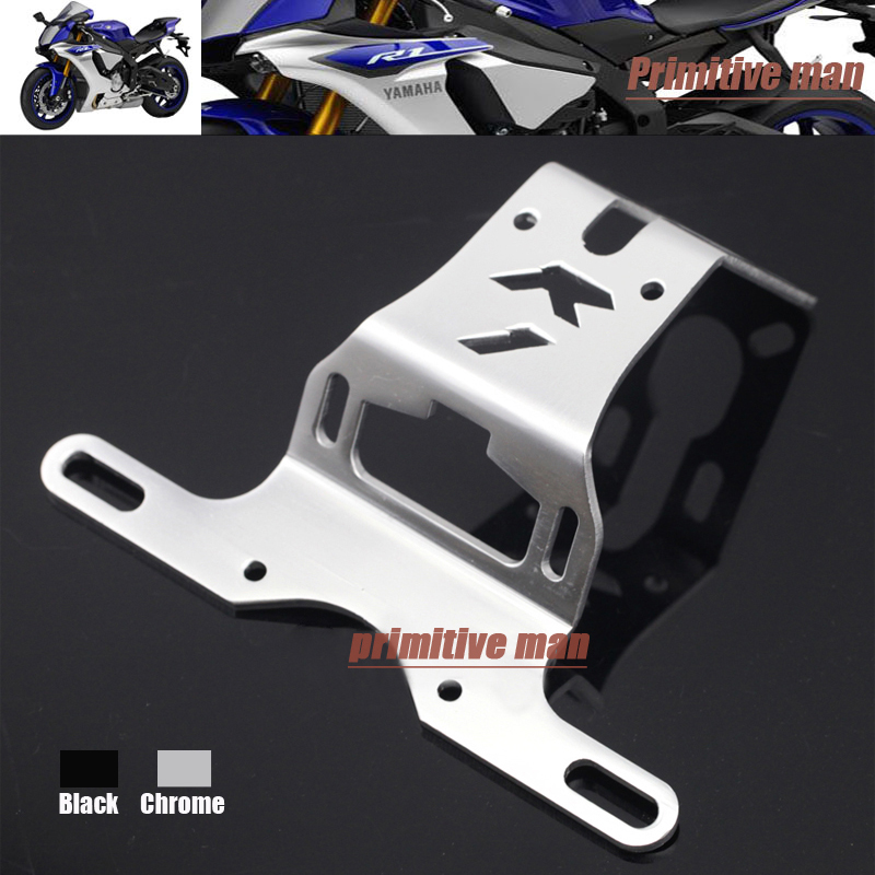 For YAMAHA YZFR1 YZF-R1 YZF R1 2004-2008 Motorcycle Tail Tidy Fender Eliminator Registration License Plate Holder Bracket Chrome aftermarket free shipping motorcycle parts eliminator tidy tail fit for 2006 2012 yzf r6 yzf r6 yzfr6