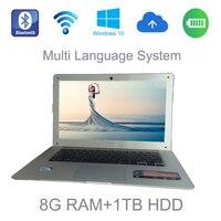 Multi Language Windows 10 Systerm 14 Inch Mini Laptop Intel Celeron J1900 2 0GHz 8G Ram