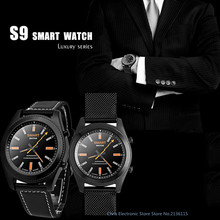 DTNO. I N° 1 S9 NFC MTK2502C Smartwatch Pulsómetro Bluetooth 4.0 Pulsera reloj Inteligente Usable dispositivos para iOS Android