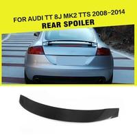 Car Styling Carbon Fibre / FRP Racing Rear Spoiler Wing Lip for Audi TT 8J MK2 TTS Coupe Convertible 2 Door 2008 2014