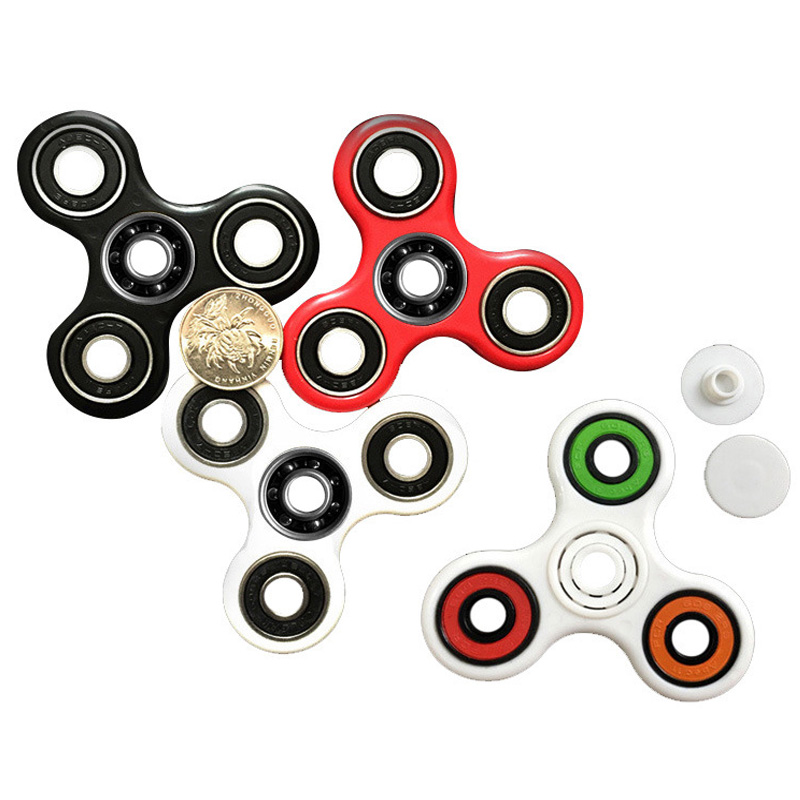 KAWO Tri Spinner Fidget Spinner Toy Plastic EDC Hand Spinner For Autism and ADHD