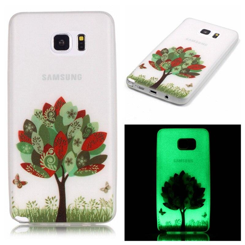 Для Samsung Galaxy Note 5 Case ультра тонкий световой тиснением тонкий мягкий силиконовый чехол для телефона ТПУ кожного покрова