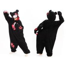 Новинка; обувь для косплея; аниме Мрачные медведь комбинезоны костюмы животных Пижама в виде животного для косплея Пижама розовый/черный комбинезон в виде медведя для взрослых, костюм на Хеллоуин