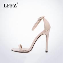 0509ec50c05d6e Lzzf Classics Sexy Frauen Rot Hochzeit Schuhe Peep Toe Stiletto Extreme  High Heels Schuhe Frau Sandalen Pumpe Schwarz Rot Nude G..