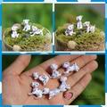 Free shipping Dalmatian Dogs Mini Figures 6pcs/lot PVC toys pet Succulent plant cake car party office home decoration kids gifts