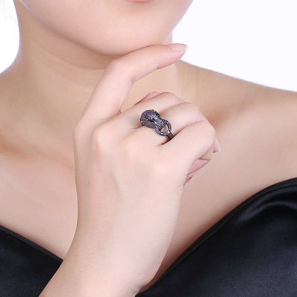 HIYONG Unique Ouroboros charm Holder Ancient Greek Symbol Ring ...
