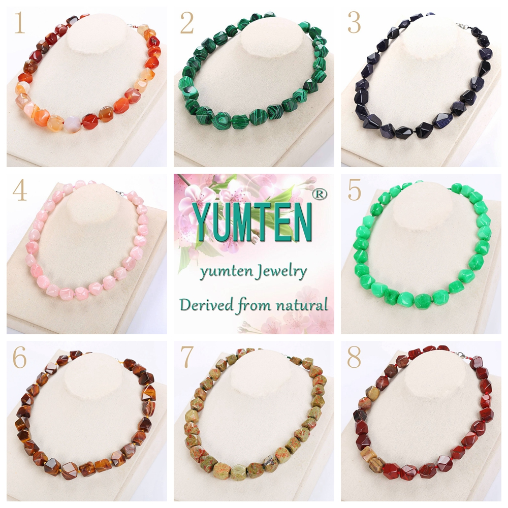 Beads Natural Stone Necklaces Tassel Women Big Necklace Amber Gem Men Irregular Star Jewelry Power Crystal Knotted Yoga Necklace