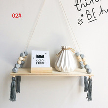 Dropshipping Shelves Clapboard Wall Hanging Tassel Decoration Gifts Swing Rope For Children Room Party MDP66