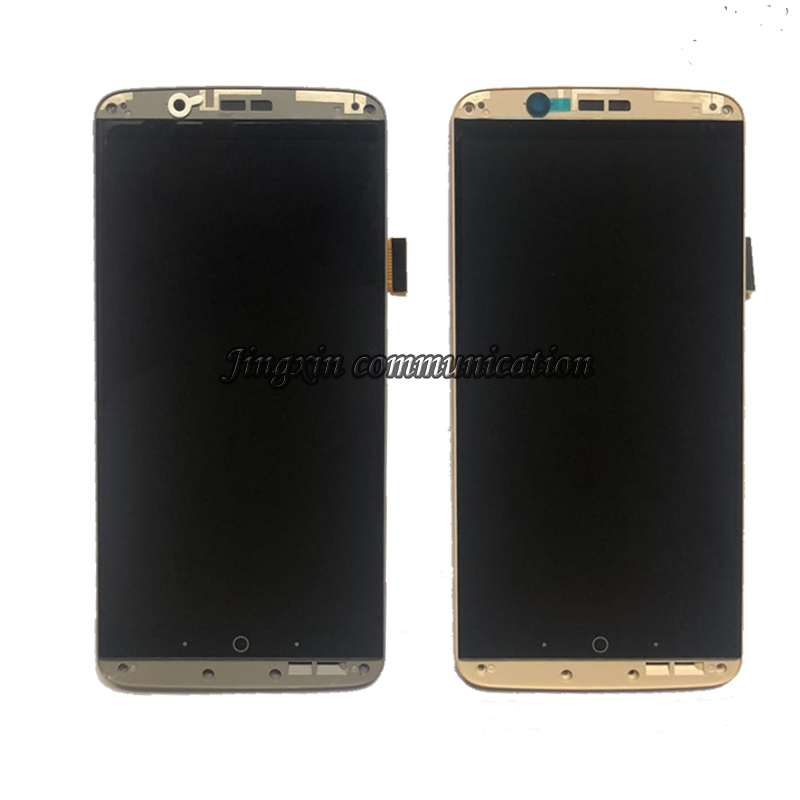 Image 2 - original with frame AMOLED screen for ZTE Axon 7 A2017 A2017U A2017G LCD+touch screen digitizer oled display repair parts-in Mobile Phone LCD Screens from Cellphones & Telecommunications