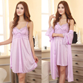 Free shipping plus size M L XL XXL brand summer style purple sleepwear women nightwear sex Robe nightdress dress night 11 color