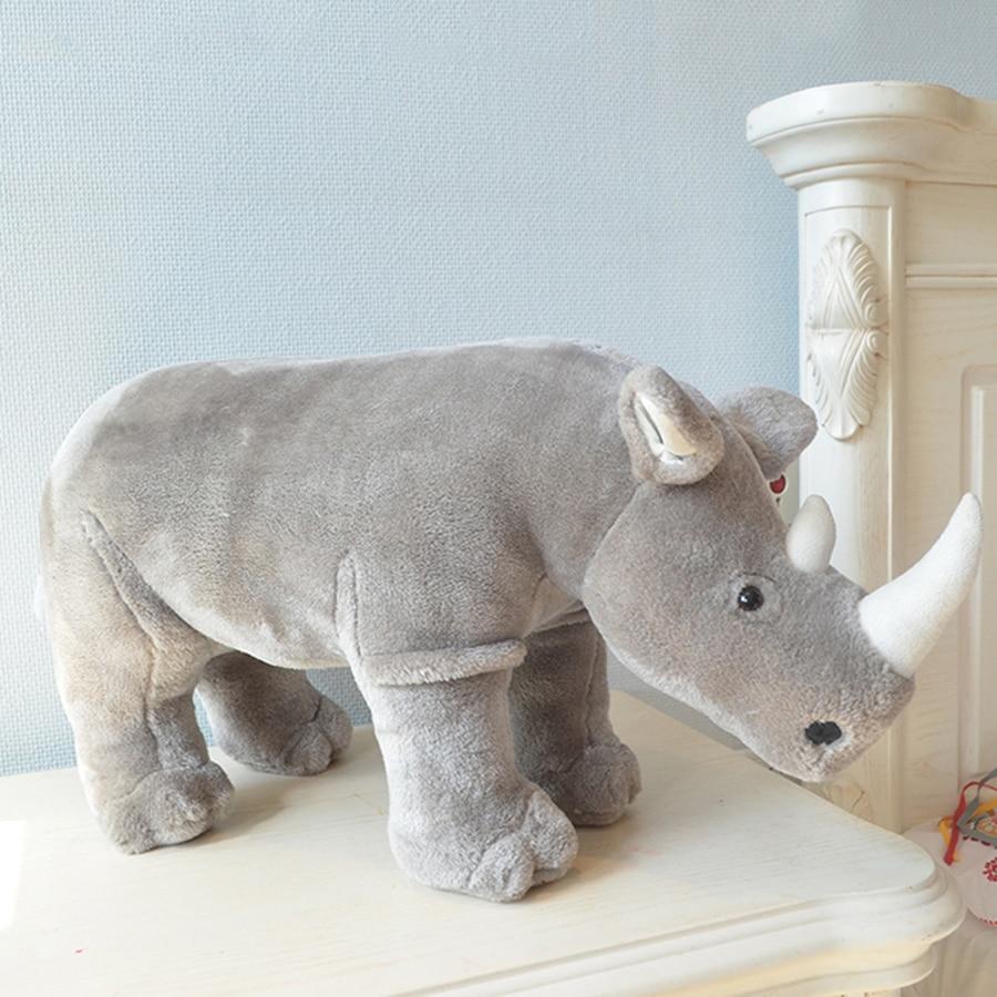 Rhinoceros Cute Animal Stuffed Toys Plush Cartoon Kids Doll Almofada Infantil Birthday Gift Oyuncak Bebek Toys For Girls 70G0363