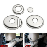 4pcs Set ABS Seat Headrest Switch Adjust Button Cover Trim Ring Decoration For Benz C Class