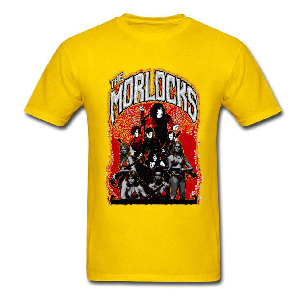 2018 Hot Sale Men's T Shirt O Neck Short Sleeve Cotton Gift Tops & Tees Comics Tshirts Wholesale Best Art Poster The Morlocks Italy 11134 yellow