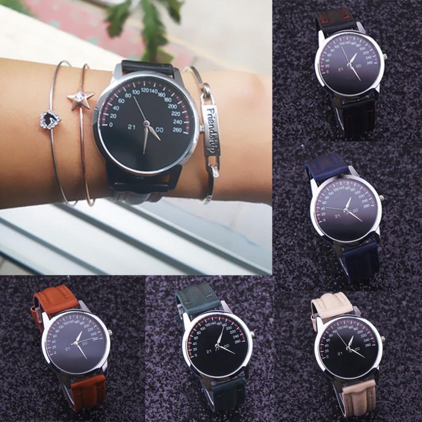 SmileOMG Women Ladies Leather Band Analog Quartz Wrist Watch Aug 18