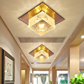3W D12CM квадратная светодиодная хрустальная люстра освещение для прохода крыльца Прихожая лестница со светодиодной подсветкой