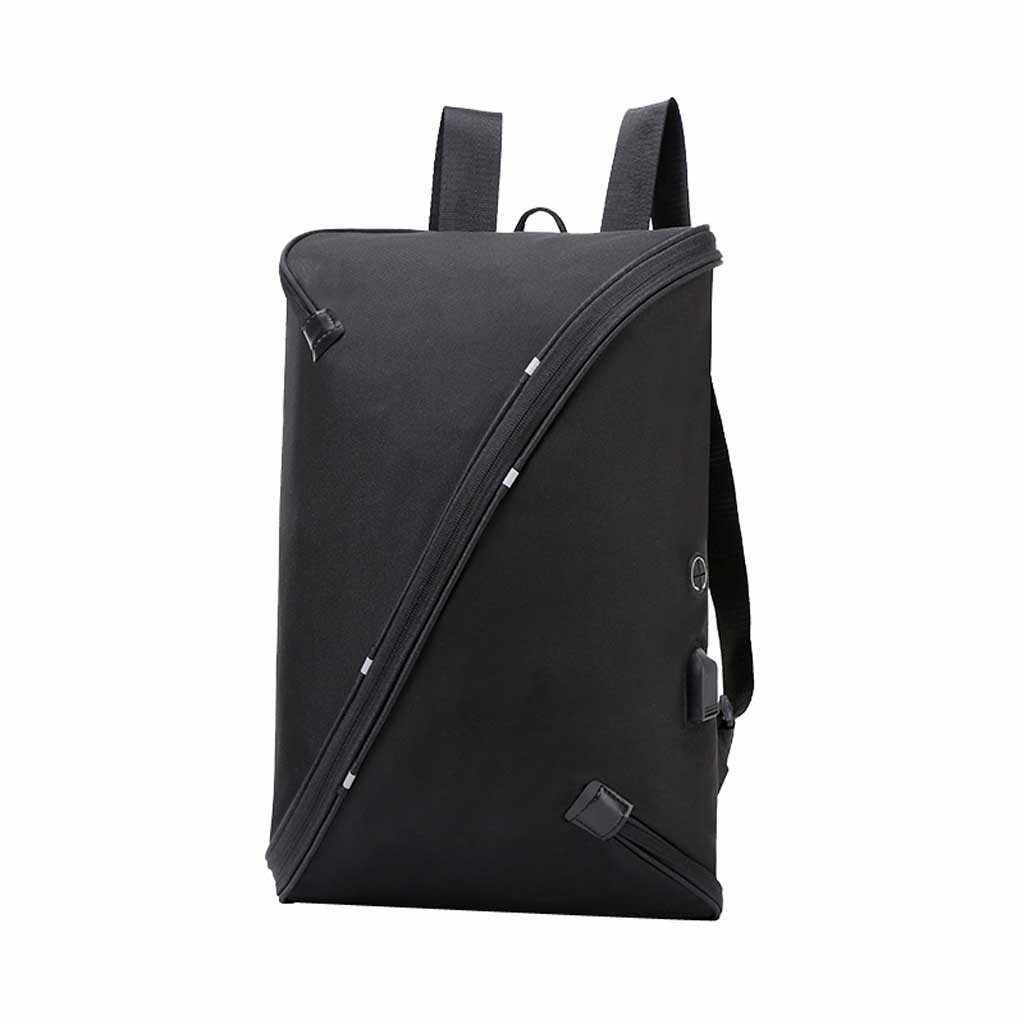 Molave mochilas sólida mochila masculina nova moda oxford pacote usb men casual saco em forma de pacote computador viagem zíper bag9419