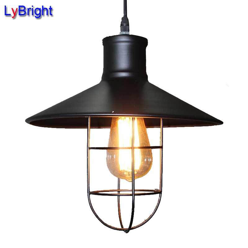 vintage edison pendant light loft creative personality industrial
