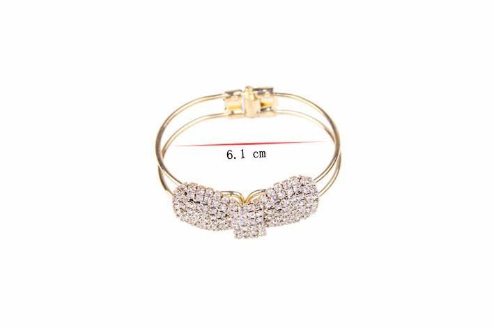 2016 мода ювелирных изделий оптовая продажа кристалл цветы горный с бантом манжеты браслет для женщин в43
