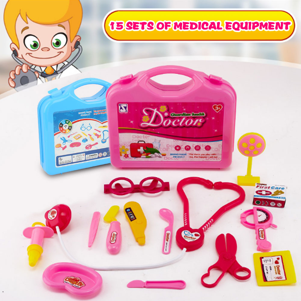 Simulated Pretend Doctor Toys Pink Pretend Doctor Educational Doctor Suitcase Toy Developmental Learning Simulation Doctor Toys