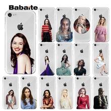 Babaite Game of Thrones1 Daenerys Targaryen Emilia Clarke for Phone Case Cover iPhone 7 8 6 6S Plus X XS MAX 5 5S SE XR