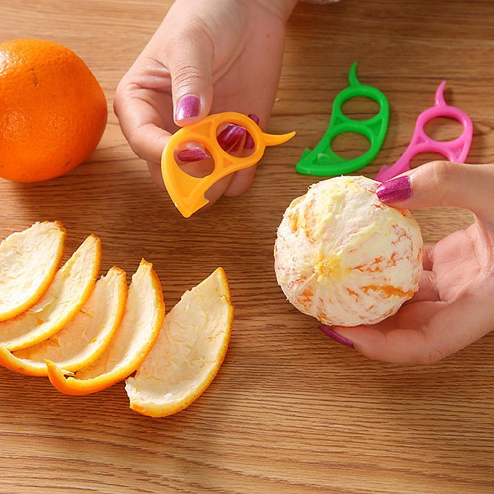 Creative Orange Peeler Zesters Easy Opener Lemon Slicer Cutter Plastic Cute mini cut fruit stripper device 5pcs/lot