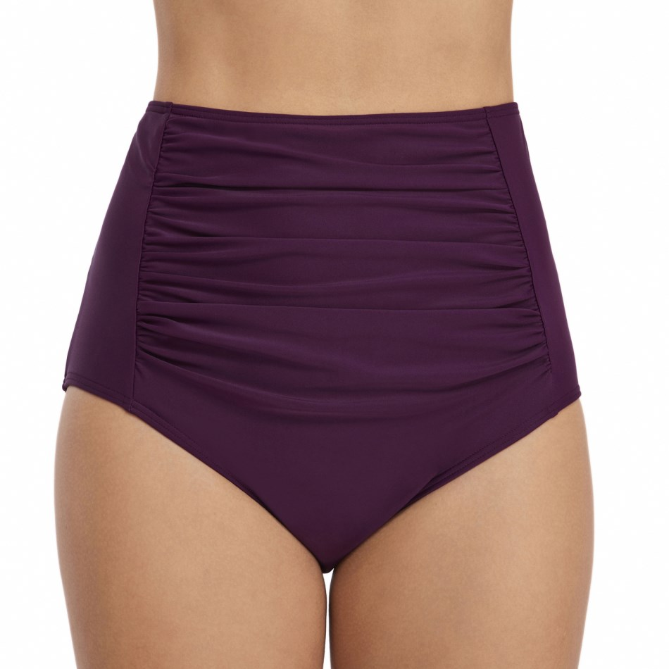 XARKE Women Bikini Bottom Tanga Swimsuit Thong High Waist Bikinis Black Purple Swimming Briefs Two Piece Separates Swimwear in Two Piece Separates from Sports Entertainment