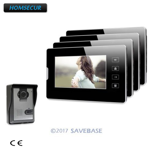 HOMSECUR 7inch Video Door Entry Security Intercom with Touch Panel Monitor for Apartment