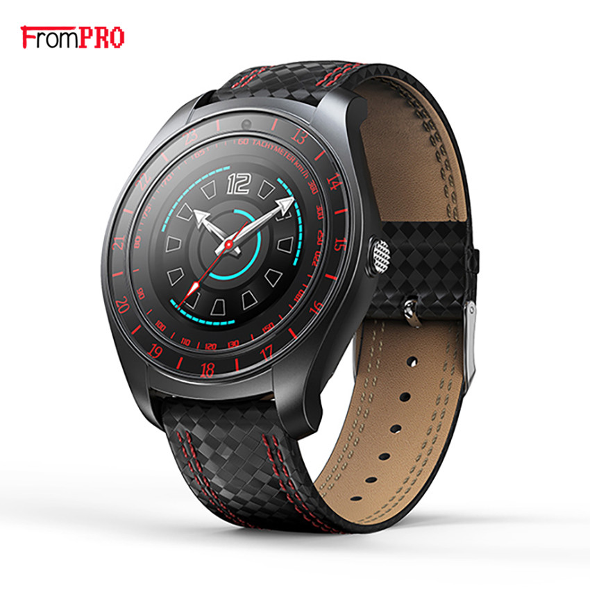 FROMPRO V10 Smart Watch Men with Camera Bluetooth Smartwatch Pedometer Heart Rate Monitor Sim Card Wristwatch for Android Phone