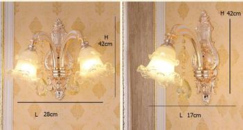 Ã�ーロッパ高級1/2頭結晶壁ランプの寝室のベッドサイドled創造雰囲気双頭亜鉛合金壁ランプZA8840