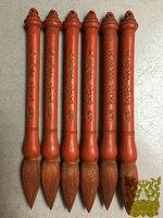 1 peça  antigo vermilion vara de tinta lao mo para coleção vara de tinta chinês tradicional vermilion tinta vara tintas sólidas hui mo| |   -