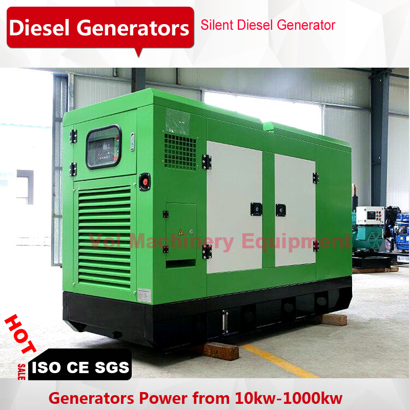 US $4399 0 |weichai 50kw diesel generation price soundproof low noise with  brushless alternator three pahse/single phase-in Diesel Generators from
