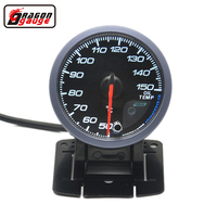 Dragon gauge 60MM Advanced Auto CAR Oil temp Gauge Black Face with Red Light And White Light Display Temperature Free shipping