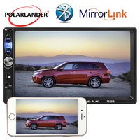 AUX USB TF Bluetooth 2018 New Mirror Link Car Radio Stereo MP5 MP4 12V 7'' Touch Screen Multi languages 2 Din