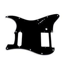3ply Guitarras pickguard para Fender Stratocaster Strat HS solo humbucker negro