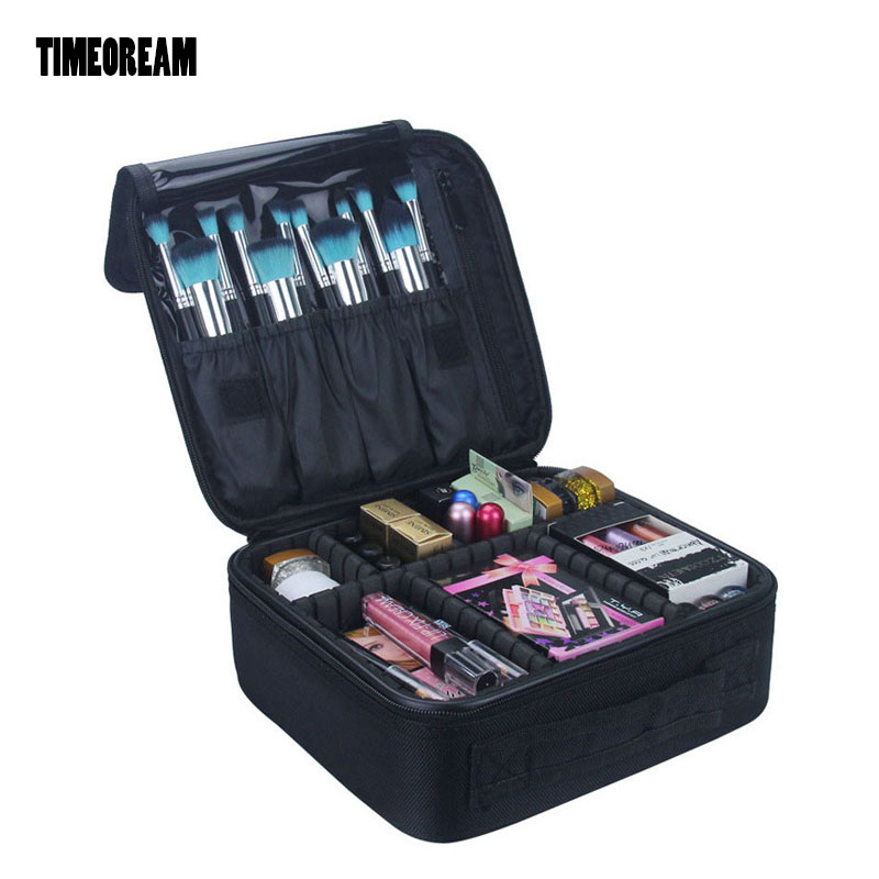 TIMEOREAM Makeup Case  Artist with  Beauty Case Wash Bag Business Travel Supplies Ladies Waterproof Storage Cosmetic Bag