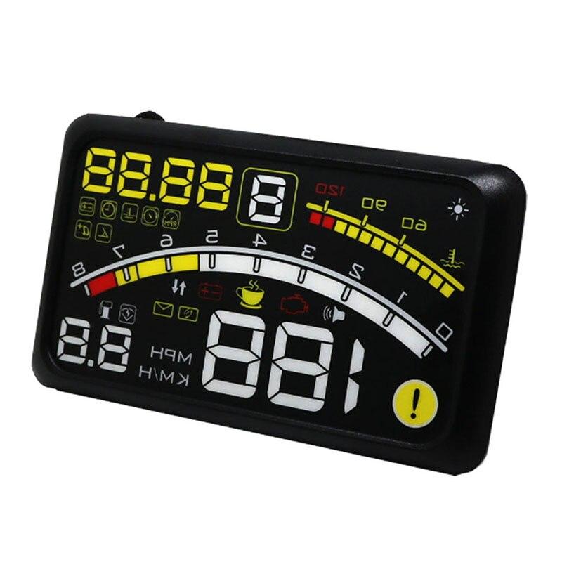 2018 Auto Parts 5.5 Plus HUD Head Up Display Car Speed Monitor Hud Projector OBD II Car Alarm Monitoring Scanner Display universal 3 5 car hud a3 head up display with obd2 interface