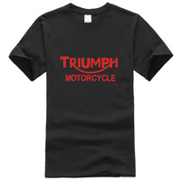 TRIUMPH MOTORCYCLE T Shirt Shirts Hip Hop Rock Men S Clothing Casual Tops Tees For Men