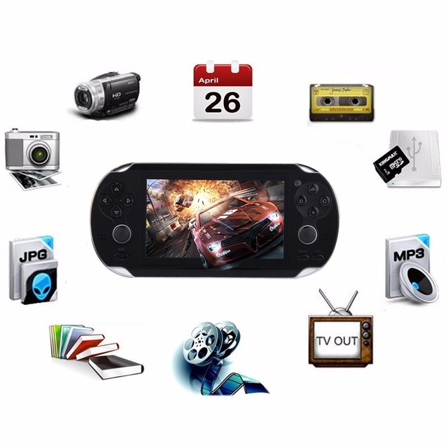 New Handheld Game Console 8GB Memory 32 Bit portable video game double Rocker built-in 1000 free games Support TV Out Put 1