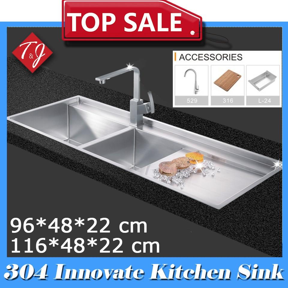 aliexpress : buy sus304 handmade stainless steel kitchen sink