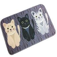 Home Decor Digital druck Flanell Katze Matte Bereich teppich Punkt kunststoff boden Anti slip Matten Teppich Fußmatte Für Bad-in Teppich aus Heim und Garten bei